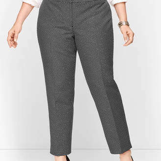 Talbots Plus Size Shimmering Jacquard Tailored Ankle Pants