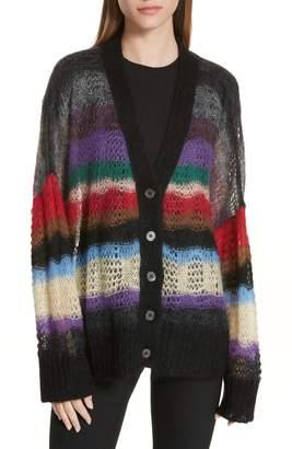 N°21 N21 N?21 Stripe Mohair & Wool Blend Cardigan