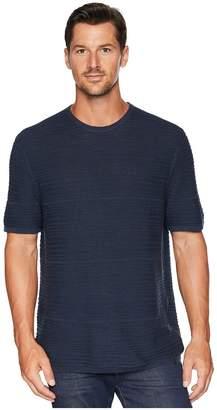Calvin Klein Texture Stripe Linen T-Shirt Men's T Shirt