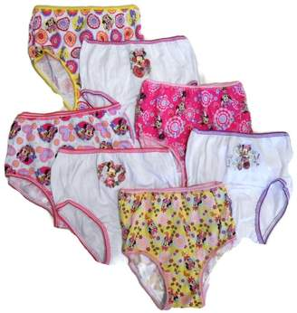 Disney Handcraft Little Girls' Minnie Seven-Pack of Brief Underwear