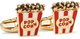 Paul Smith Popcorn Enamelled Gold-Tone Cufflinks