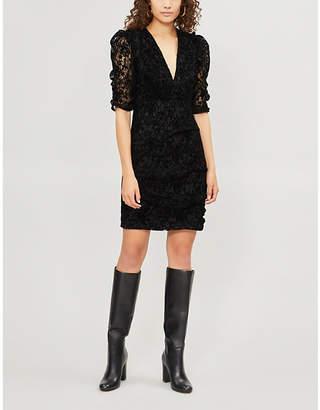 Maje Rimael velvet-lace dress