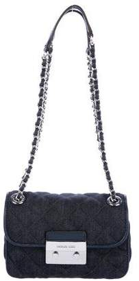 Michael Kors Sloan Denim Chain-Link Shoulder Bag