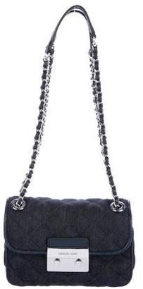 Michael Kors Sloan Denim Chain-Link Shoulder Bag