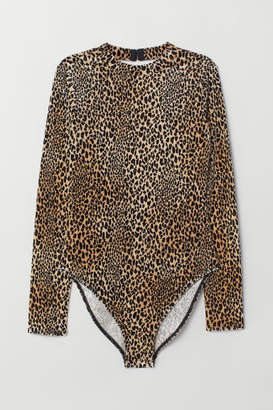 H&M Velour Bodysuit - Beige
