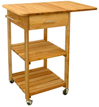 Catskill Craft Kitchen Cart with Butcher Block Top