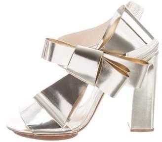 DELPOZO Metallic Slingback Sandals