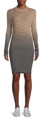 ATM Anthony Thomas Melillo Ombré Striped Tee Dress