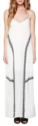 Women's Willow & Clay Embroidered Maxi Dress $109 thestylecure.com