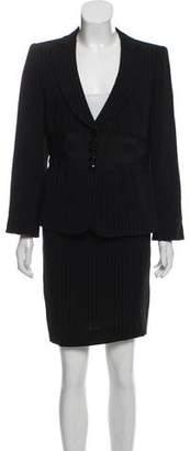 Armani Collezioni Pinstripe Skirt Suit