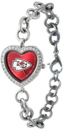 Game Time NFL Women's FH-KC Heart Collection Kansas City Chiefs Watch