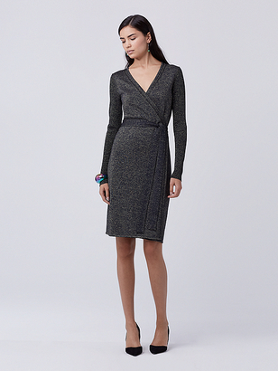 Evelyn Metallic Knit Wrap Dress $498 thestylecure.com