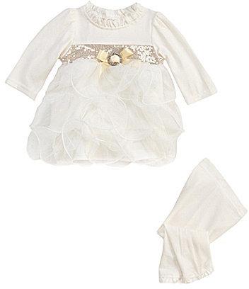 Nannette Baby Newborn 2-Piece Dress & Leggings Set