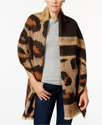 INC International Concepts Oversized Leopard-Print Wrap, Only at Macy's $59.50 thestylecure.com