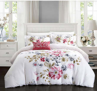 Enchanted Garden Chic Home 4 Pc Queen Duvet Cover Set Bedding