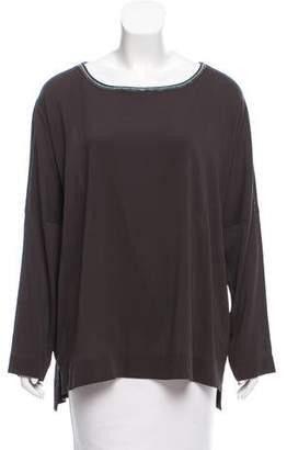 Fabiana Filippi Silk Long Sleeve Top