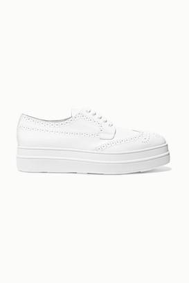 Prada Leather Platform Brogues - White