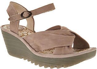 Fly London Leather Ankle Strap Wedge Sandals -Yesh