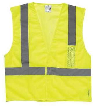 ML KISHIGO High Visibility Vest,Class 2,3XL,Lime 1083-3X