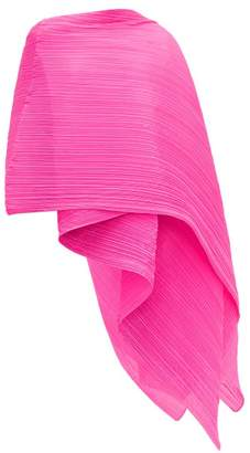 Pleats Please Issey Miyake Madame Pleated Scarf - Womens - Pink