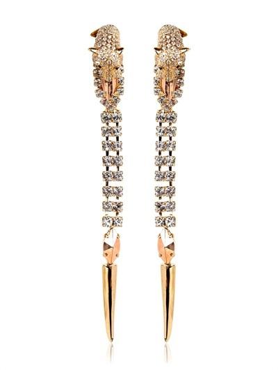 Iosselliani Tiger Clip Earrings