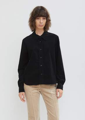 Margaret Howell Cotton Needlecord Gathered Sleeve Shirt