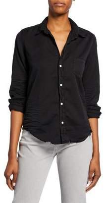 Frank And Eileen Barry Long-Sleeve Button-Down Frayed-Hem Shirt