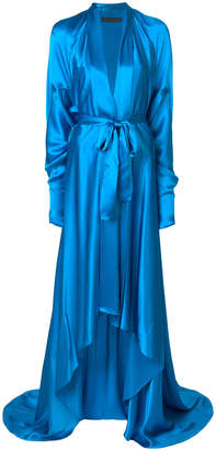 Francesco Paolo Salerno belted hi-low gown