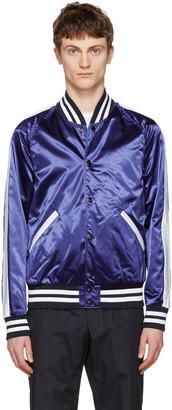 Burberry Navy Lidington Bomber Jacket $795 thestylecure.com
