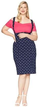Unique Vintage Plus Size Sabrina Suspender Skirt Women's Skirt