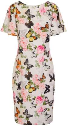 Dorothy Perkins Womens **Paper Dolls Multi Coloured Butterfly Print Bodycon Dress