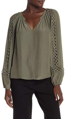 Ramy Brook Sera Grommet Trim Long Sleeve Top