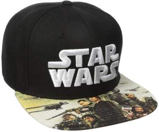 Bioworld Men's Star Wars Rogue One Sublimated Bill Snapback Cap