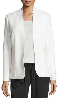 Elie Tahari Danette Notched-Collar Stretch Blazer Jacket, Winter White $448 thestylecure.com