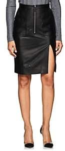 Altuzarra Women's Pollard Leather Pencil Skirt-Black