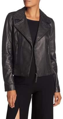 Elie Tahari Mae Leather Jacket