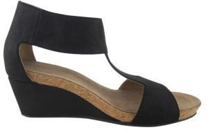 Adrienne Vittadini Trellis Suede Wedge Sandals $89 thestylecure.com