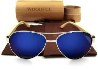 woodful Wood Bamboo Aviator Glasses Wooden Sunglasses