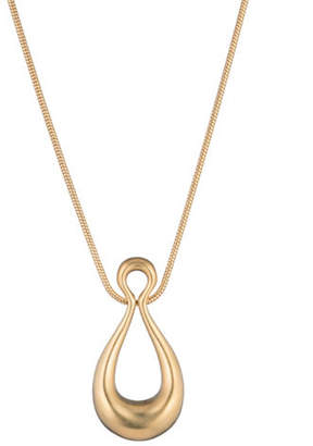 Trina Turk Gold Rush Drop Pendant Necklace