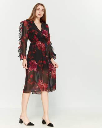 Ali & Jay Floral Ruffle Long Sleeve Dress
