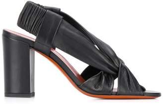Santoni chunky heel knot sandals