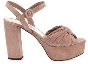 Prada Knotted Platform Sandals