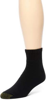 Gold Toe 6 Pair Athletic Quarter Socks - Extended Sizes
