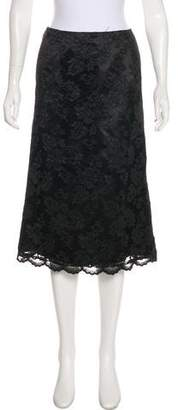 Casadei Lace Knee-Length Skirt
