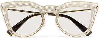 Valentino Cat-eye Layered Acetate And Gold-tone Optical Glasses