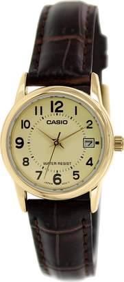 Casio Women's LTPV002GL-9B Leather Quartz Watch