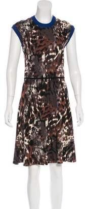 Yigal Azrouel Wool Printed Dress w/ Tags