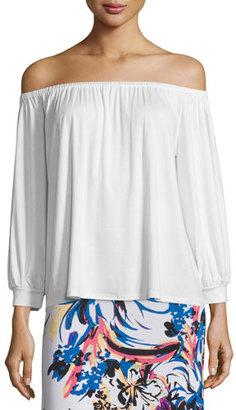 Rachel Pally Ayumi Off-the-Shoulder Top, White, Plus Size $180 thestylecure.com