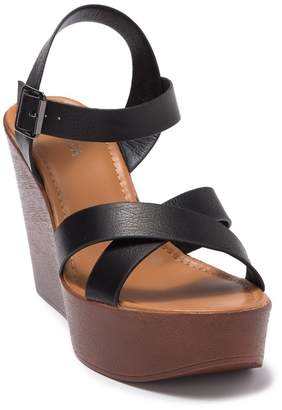Top Moda Aimee Heeled Ankle Strap Platform Sandal