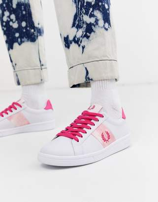 Fred Perry b721 tie dye leather sneakers
